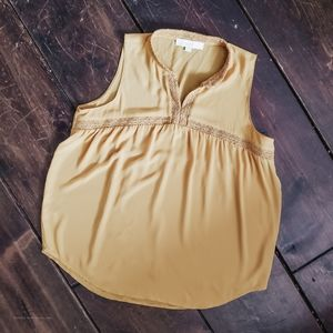 Mustard loft blouse